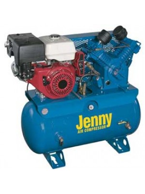 Jenny Air Compressor 30 Gallon horizontal truck mounted base W/ Honda GX390