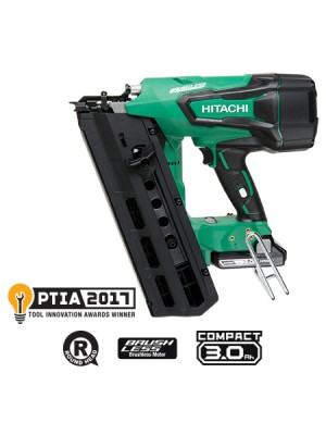 "NR1890DR 3-1/2"" 18V HITACHI Cordless Plastic Strip Framing Nailer"