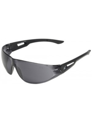 Edge Eyewear AB116 Kirova Safety Glasses, Black with Smoke Lens