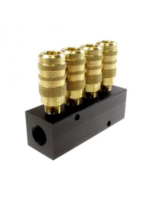 4 PORT ALUMINUM MANIFOLD (PACK OF 1)