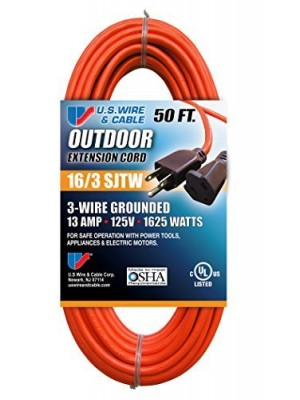 STANDARD THREE CONDUCTOR EXTENSION CORD 50 FT. 16/3 (ORANGE)