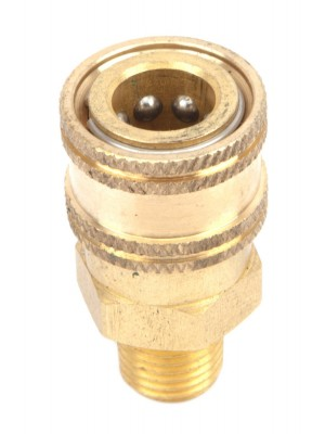 PRESSURE WASHER ACCESSORIES, QUICK COUPLER MALE SOCKET, 1/4-INCH MALE NPT, 5,500 PSI