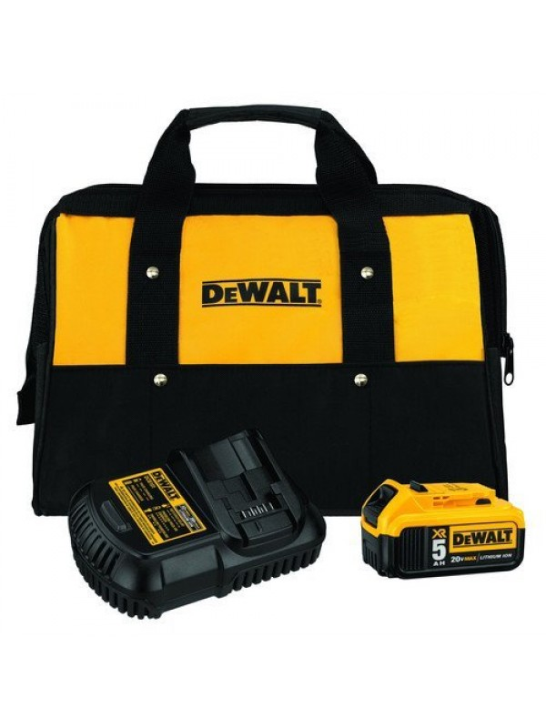 20V MAX 5 BATTERY CHARGER AND BAG