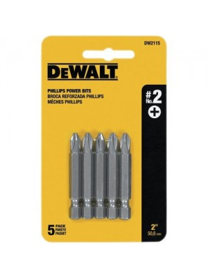 "#2 PHILLIPS 2"" POWER BIT (5 PACK)"