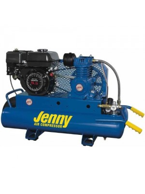 Jenny K5HGA-8P Single Stage Wheeled Portable Gasoline Engine Air Compressor with K Pump, 8 Gallon Tank, 5.5 HP
