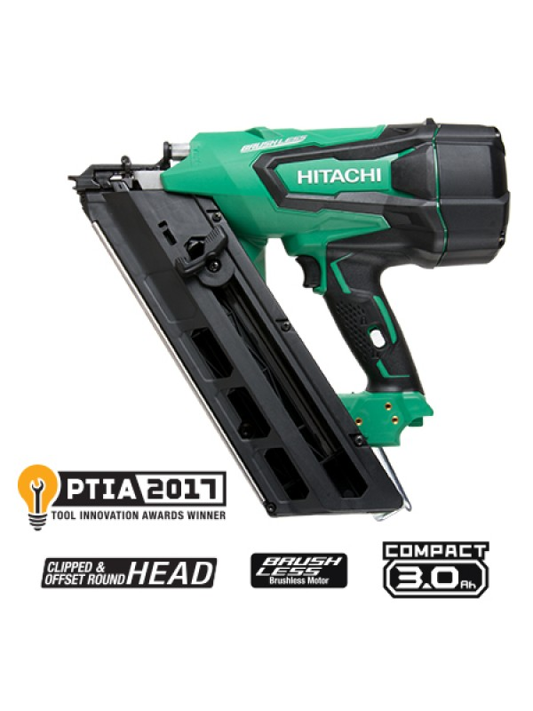 "NR1890DC 3-1/2"" 18V HITACHI CORDLESS PAPER STRIP FRAMING NAILER"