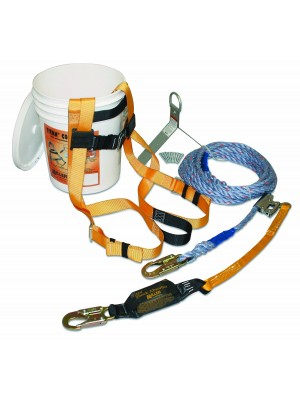 Miller by Honeywell Titan TRK2000/25FT B Compliant Fall Protection Complete Roof Kit, 1-Kit