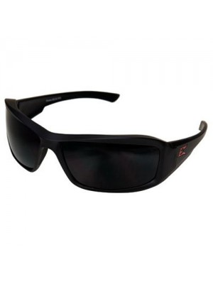 Edge Eyewear TXB236 Brazeau Safety Glasses, Black Torque Series with Polarized Smoke Lens