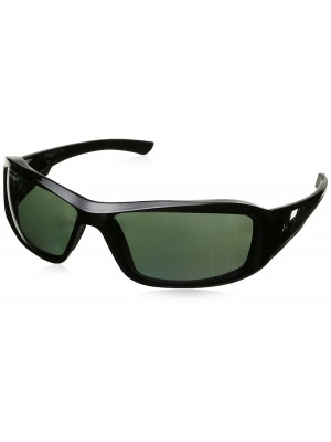 Edge Eyewear TXB21-G15-7 Brazeau Safety Glasses, Black with Polarized G and 15 Silver Mirror Lens