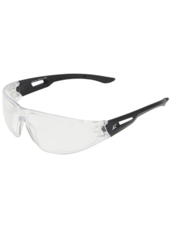 Edge Eyewear AB111 Kirova Safety Glasses, Black with Clear Lens